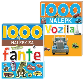 1000 NALEPK VOZILA IN FANTE