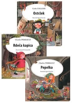 OSTRŽEK+PEPELKA+RDEČA KAPICA